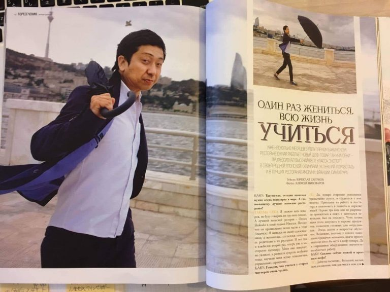 Interview with Chef Takuma Seki, Part 1 – Struggling in Azerbaijan, an undeveloped region for Japanese cuisine